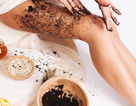 Cellulite Scrub with Coffee Grounds